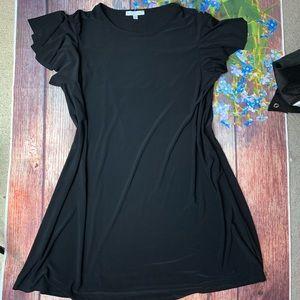 Annalee & Hope Black Slinky Short Shift Dress XL